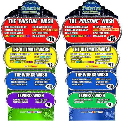 Wash pricing